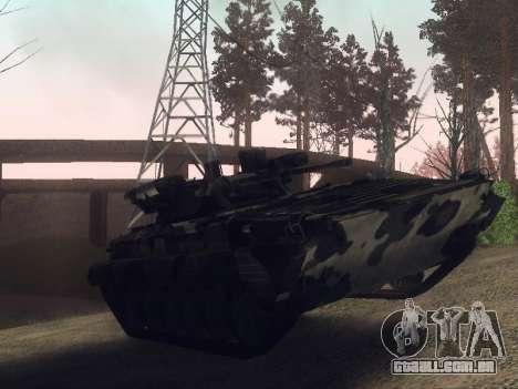 BMP-2 para GTA San Andreas traseira esquerda vista