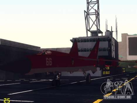 MiG-25 para GTA San Andreas vista inferior
