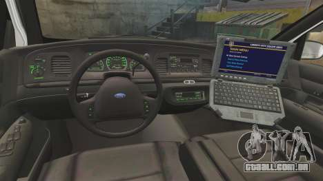 Ford Crown Victoria 1999 Florida Highway Patrol para GTA 4 vista de volta