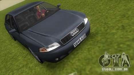 Audi A8 VCM para GTA Vice City vista traseira esquerda