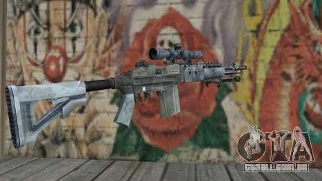 M14 EBR Blue Tiger para GTA San Andreas segunda tela