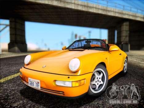 Porsche 911 Speedster Carrera 2 1992 para GTA San Andreas vista traseira