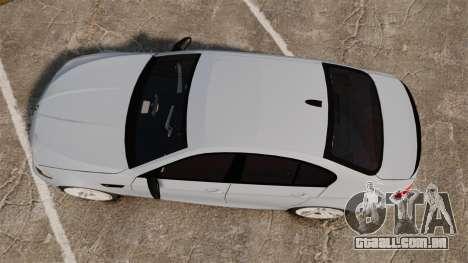 BMW M5 Unmarked Police [ELS] para GTA 4 vista direita