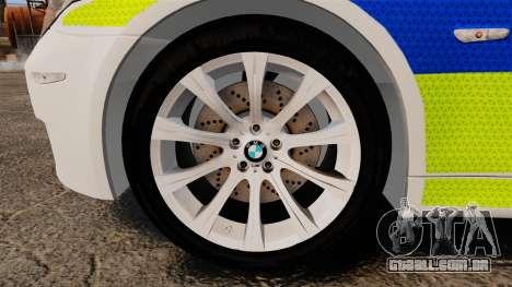 BMW M5 E60 City Of London Police [ELS] para GTA 4 vista de volta
