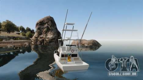 Sport fishing yacht para GTA 4 traseira esquerda vista