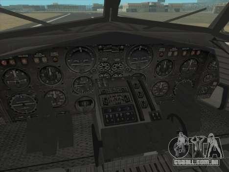 Fairchild C-123 Provider para GTA San Andreas vista traseira