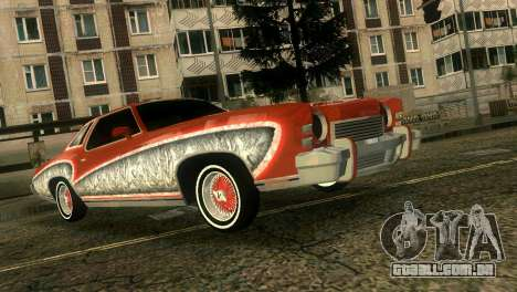 Chevy Monte Carlo Lowrider para GTA Vice City vista interior