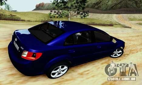 Kia Rio II 2009 para GTA San Andreas traseira esquerda vista