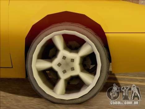 Stratum Sedan Sport para GTA San Andreas traseira esquerda vista
