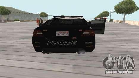 GTA V Police Cruiser para GTA San Andreas vista direita