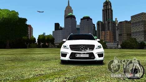 Mercedes-Benz ML63 AMG para GTA 4 esquerda vista