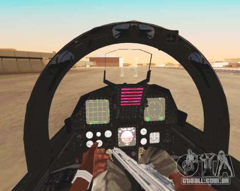 F-15E Strike Eagle para GTA San Andreas vista inferior
