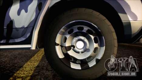 Dacia Duster Army Skin 3 para GTA San Andreas traseira esquerda vista
