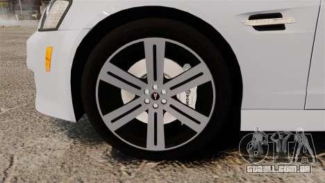 Pontiac G8 Sport Truck 2010 para GTA 4 vista de volta