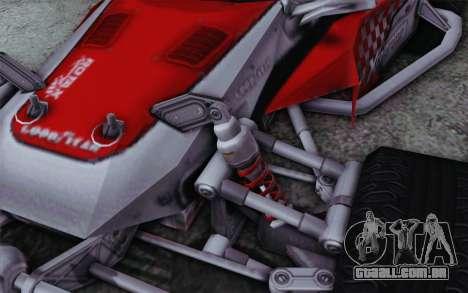 Buggy XCelerator XL para GTA San Andreas vista direita