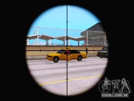 A nova visão do rifle para GTA San Andreas terceira tela