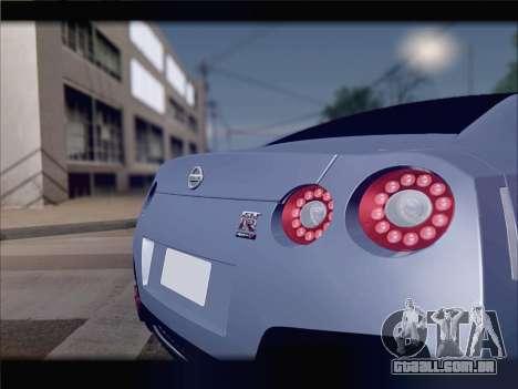 Nissan GT-R Spec V Stance para vista lateral GTA San Andreas