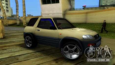 Toyota RAV 4 L 94 Fun Cruiser para GTA Vice City deixou vista