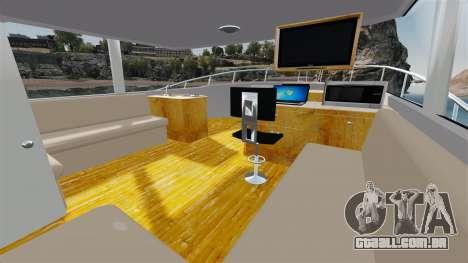 Sport fishing yacht para GTA 4 vista de volta