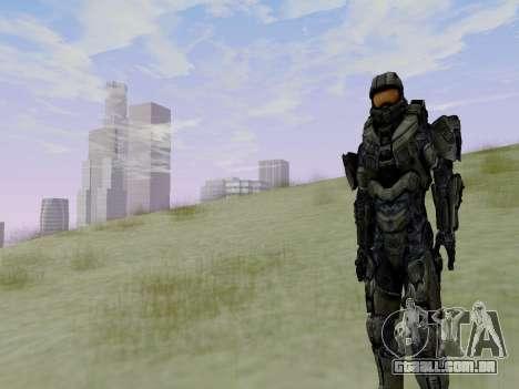 Master Chief para GTA San Andreas sétima tela