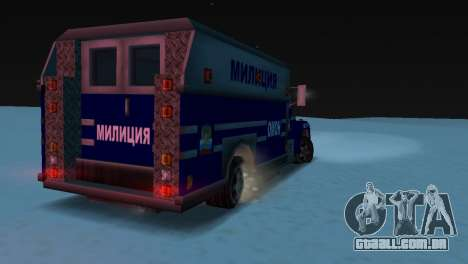 Enforcer com a textura de AUMONT para GTA Vice City vista traseira esquerda