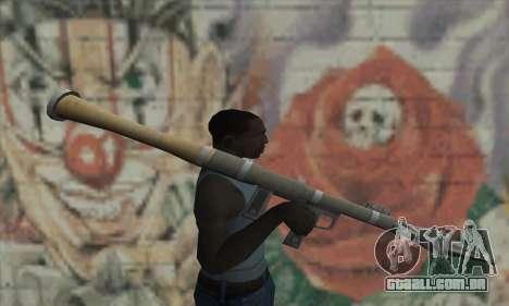 Lançador de míssil do Saints Row 2 para GTA San Andreas terceira tela