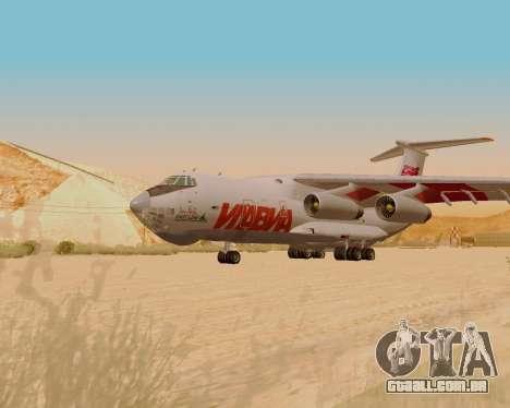 Il-76td IlAvia para GTA San Andreas traseira esquerda vista