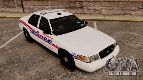 Ford Crown Victoria 2008 LCPD Patrol [ELS] para GTA 4 vista de volta
