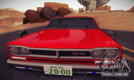 Nissan Skyline 2000GTR 1967 Hellaflush para vista lateral GTA San Andreas
