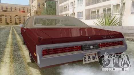 Chrysler New Yorker 4 Door Hardtop 1971 para GTA San Andreas esquerda vista