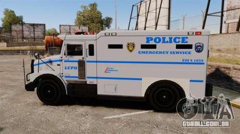 Enforcer LCPD [ELS] para GTA 4 esquerda vista
