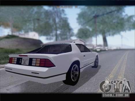 Chevrolet Camaro IROC-Z 1990 para GTA San Andreas