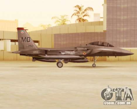 F-15E Strike Eagle para GTA San Andreas traseira esquerda vista