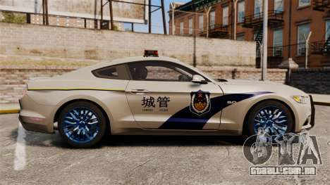 Ford Mustang GT 2015 Cheng Guan Police para GTA 4 esquerda vista