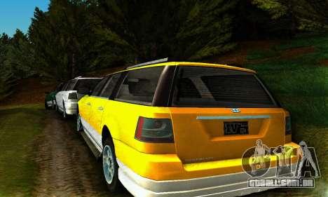 Landstalker GTA IV para GTA San Andreas traseira esquerda vista