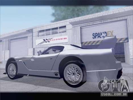 Dodge Viper Competition Coupe para GTA San Andreas vista traseira