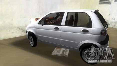 Daewoo Matiz para GTA Vice City deixou vista