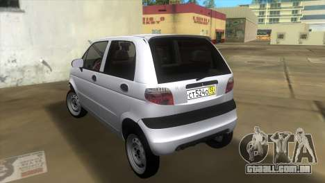 Daewoo Matiz para GTA Vice City vista traseira esquerda