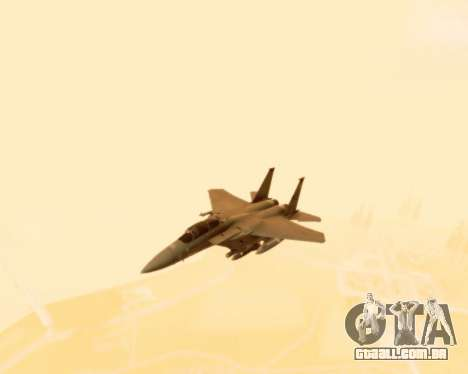 F-15E Strike Eagle para GTA San Andreas vista interior