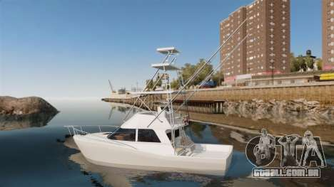 Sport fishing yacht para GTA 4 esquerda vista