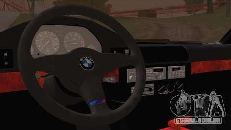 BMW 535i E34 Mafia Style para GTA San Andreas vista traseira