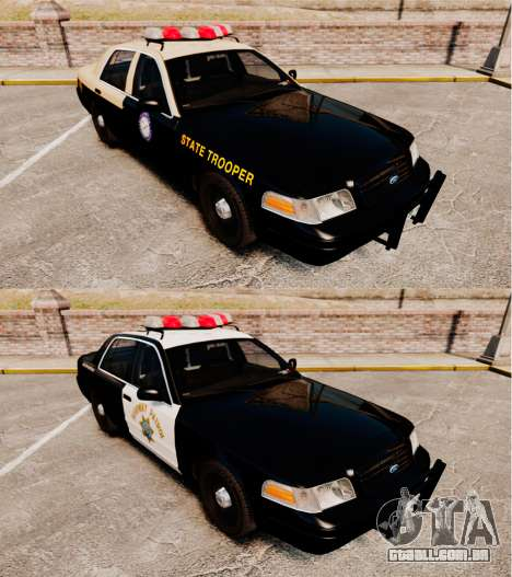 Ford Crown Victoria 1999 Florida Highway Patrol para GTA 4 vista interior