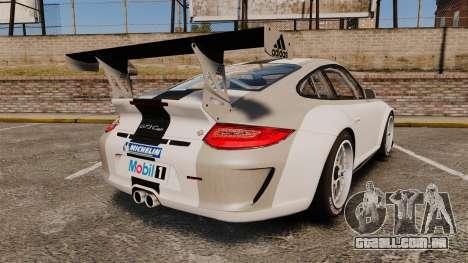 Porsche 911 (997) GT3 Cup para GTA 4 traseira esquerda vista