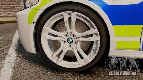 BMW M5 Greater Manchester Police [ELS] para GTA 4 vista de volta