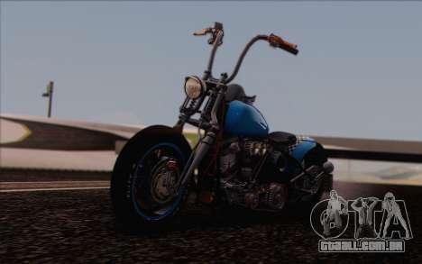Harley-Davidson Knucklehead para GTA San Andreas vista traseira