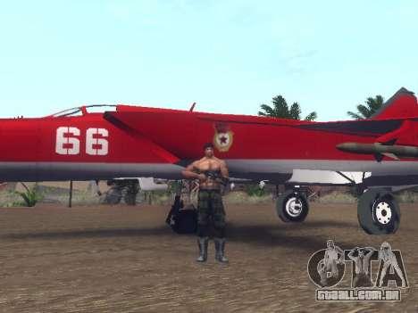 MiG-25 para GTA San Andreas vista interior