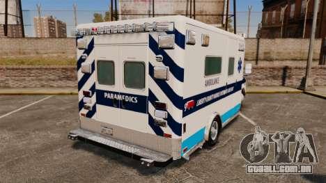 Ford E-350 Liberty Ambulance [ELS] para GTA 4 traseira esquerda vista