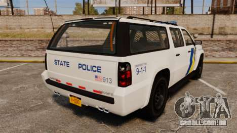 GTA V Declasse Police Ranger LCPD [ELS] para GTA 4 traseira esquerda vista