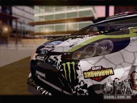 Ford Fiesta RS WRC 2013 para GTA San Andreas traseira esquerda vista