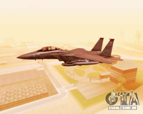 F-15E Strike Eagle para vista lateral GTA San Andreas